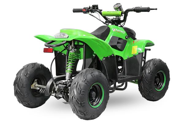 ATV electric ECO Bigfoot 800W 36V cu Baterie Detasabila SI FAR cu LED #Verde [3]
