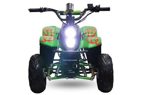 ATV electric ECO Bigfoot 800W 36V cu Baterie Detasabila SI FAR cu LED #Verde [8]