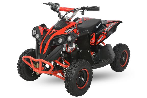 ATV Electric Eco Avenger 1000W 36V cu 3 Trepte de Viteza #Rosu 0
