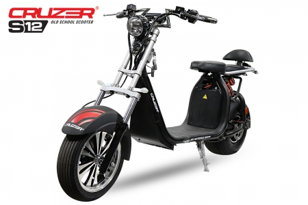 Scuter electric NITRO Eco Cruzer S12 1500W 60V Old School #Grey 0
