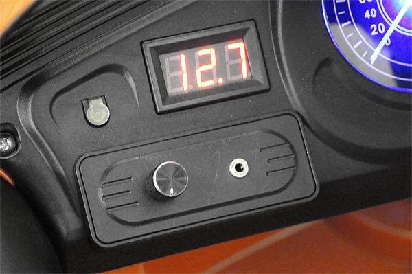 Kinderauto Jaguar F Type cu ROTI MOI 2x 35W 12V #Portocaliu 6