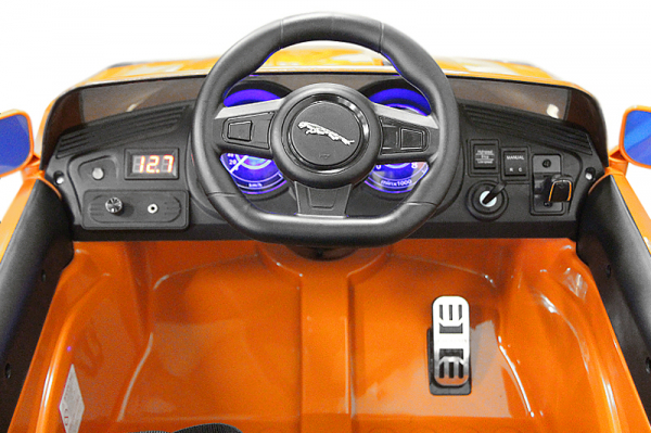 Kinderauto Jaguar F Type cu ROTI MOI 2x 35W 12V #Portocaliu 7
