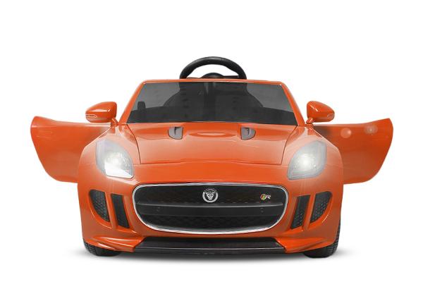 Kinderauto Jaguar F Type cu ROTI MOI 2x 35W 12V #Portocaliu 2