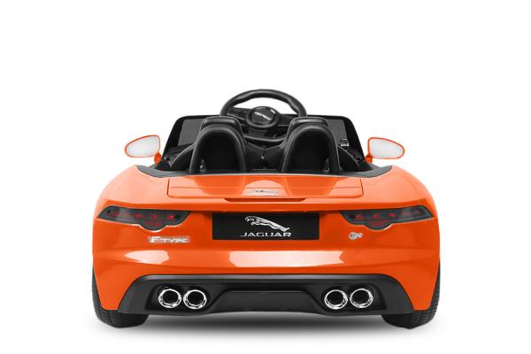 Kinderauto Jaguar F Type cu ROTI MOI 2x 35W 12V #Portocaliu 3