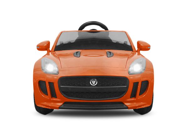Kinderauto Jaguar F Type cu ROTI MOI 2x 35W 12V #Portocaliu 1
