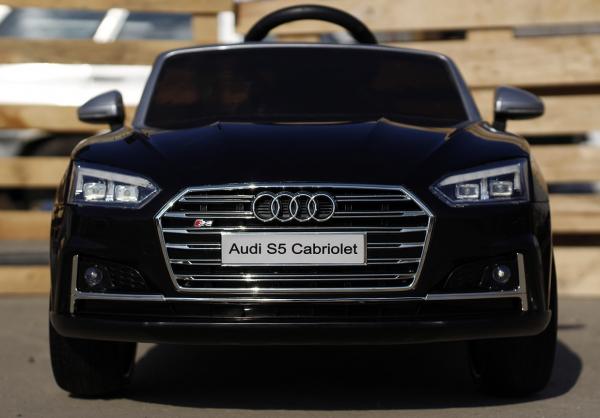 Masinuta electrica Audi S5 Cabriolet 2x35W CU ROTI MOI 12V #Negru 1