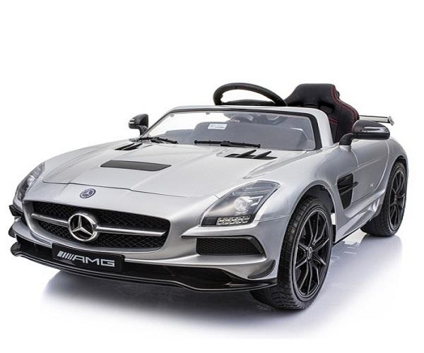 Masinuta electrica Mercedes SLS AMG PREMIUM #Silver 0