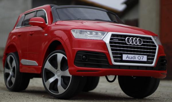Masinuta electrica Audi Q7 2x35W 12V, Scaun tapitat #ROSU 3