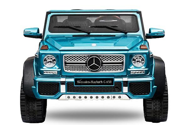 Masinuta electrica Mercedes G650 180W MAYBACH DELUXE #Albastru 0