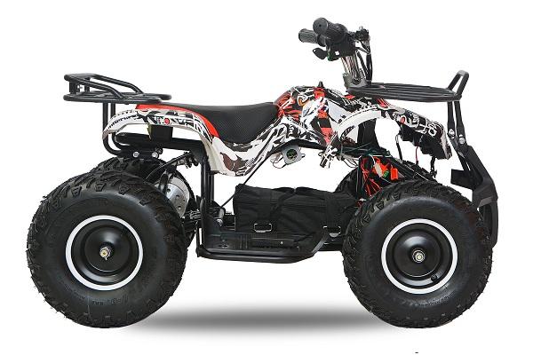 Mini ATV electric pentru copii NITRO Torino Quad 1000W 48V #Alb 0