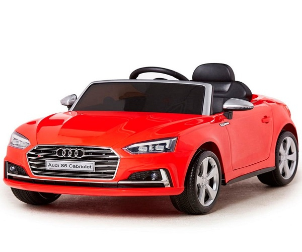 Masinuta electrica Audi S5 Cabriolet 2x35W CU ROTI MOI 12V #Rosu 0