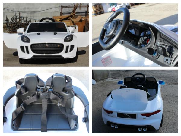 Kinderauto Jaguar F Type cu ROTI MOI 2x 35W 12V #ALB 7