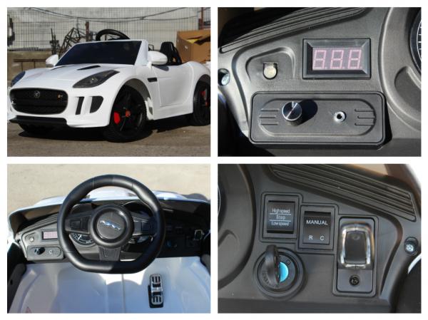 Kinderauto Jaguar F Type cu ROTI MOI 2x 35W 12V #ALB 6