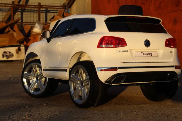 Masinuta electrica VW Touareg CU ROTI MOI 2x 35W 12V #ALB 5