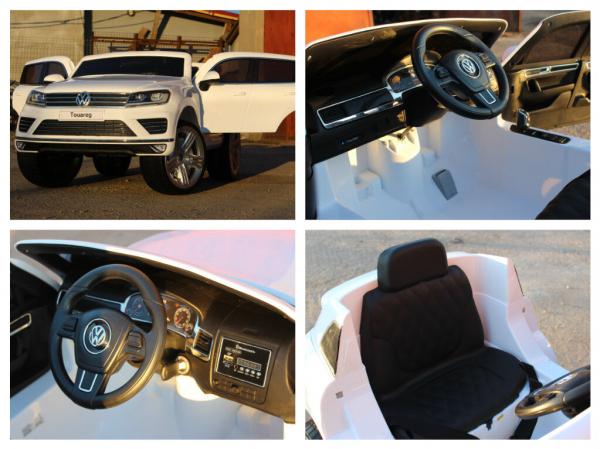 Masinuta electrica VW Touareg CU ROTI MOI 2x 35W 12V #ALB 6