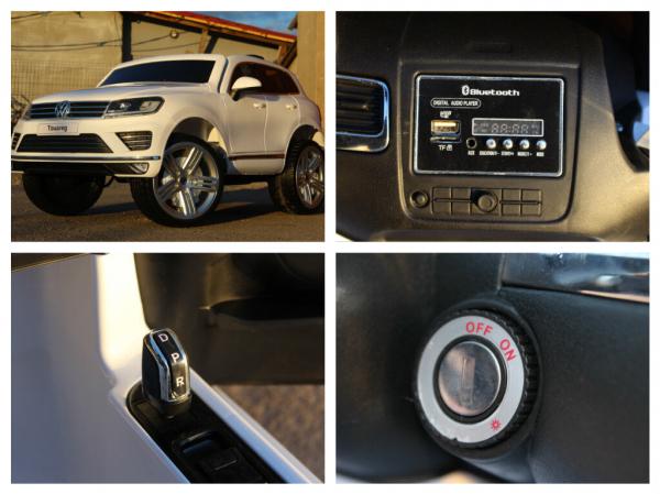 Masinuta electrica VW Touareg CU ROTI MOI 2x 35W 12V #ALB 7