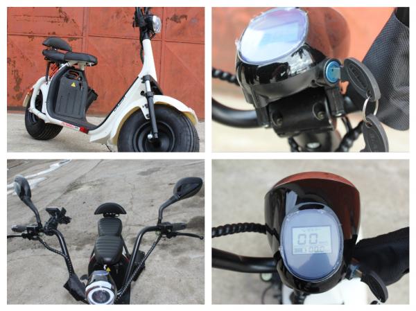 Scuter electric NITRO Eco Cruzer 1000W 60V + Accesorii #Alb 6