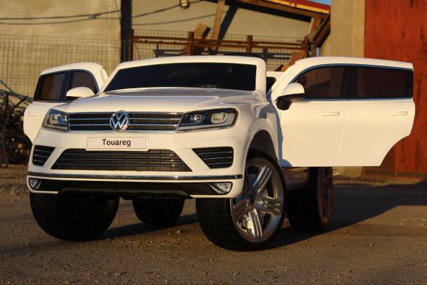 Masinuta electrica VW Touareg CU ROTI MOI 2x 35W 12V #ALB 1