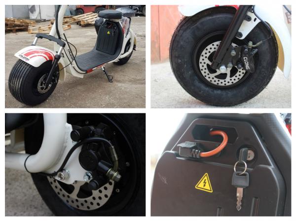 Scuter electric NITRO Eco Cruzer 1000W 60V + Accesorii #Alb 8