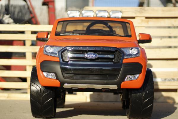 Masinuta electrica Ford Ranger 4x4 cu ROTI MOI 4x45W #Portocaliu 2