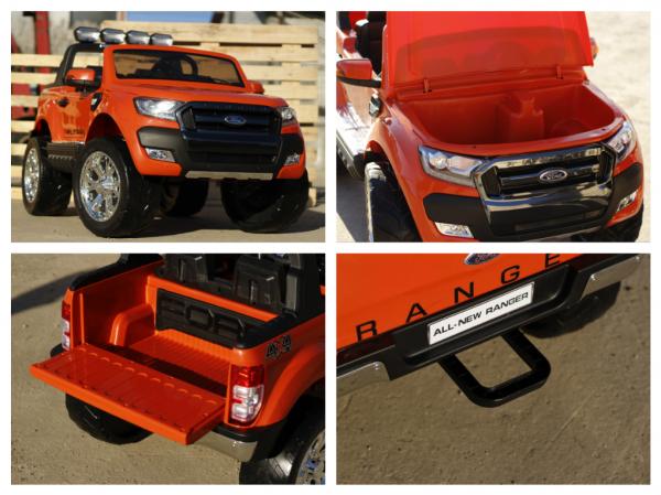 Masinuta electrica Ford Ranger 4x4 cu ROTI MOI 4x45W #Portocaliu 4