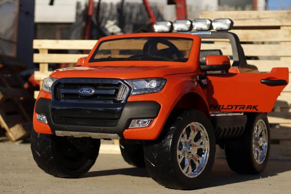 Masinuta electrica Ford Ranger 4x4 cu ROTI MOI 4x45W #Portocaliu 7