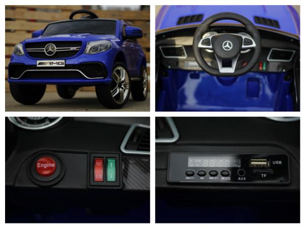 Masinuta electrica pentru copii Mercedes GLE 63S, albastra [7]