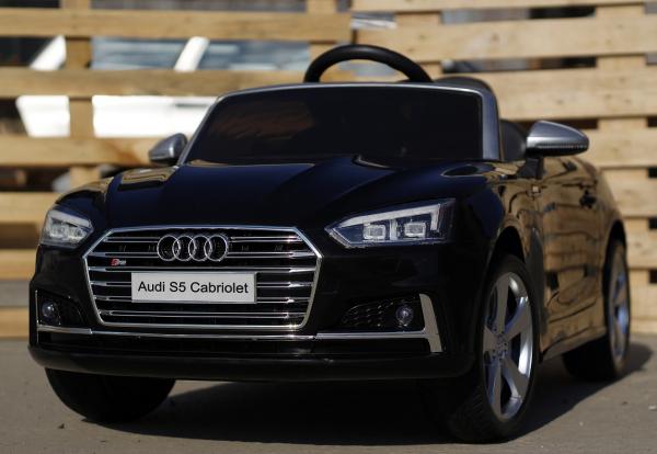 Masinuta electrica Audi S5 Cabriolet 2x35W CU ROTI MOI 12V #Negru 2