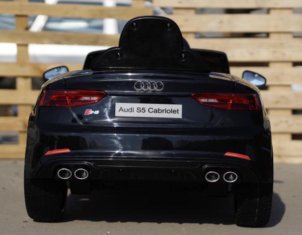 Masinuta electrica Audi S5 Cabriolet 2x35W CU ROTI MOI 12V #Negru 4