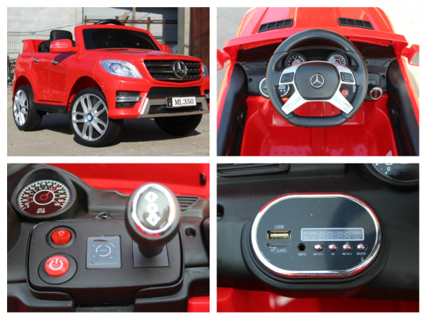 Masinuta electrica Mercedes ML350 2x25W STANDARD 12V #Rosu 7