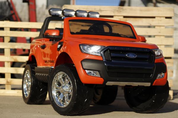 Masinuta electrica Ford Ranger 4x4 cu ROTI MOI 4x45W #Portocaliu 1