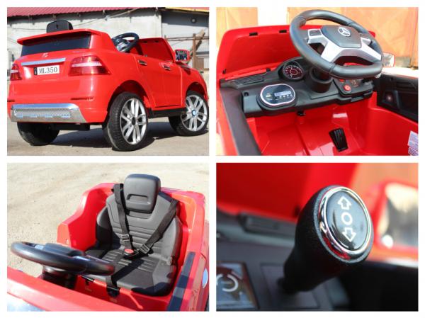 Masinuta electrica Mercedes ML350 2x25W STANDARD 12V #Rosu 8