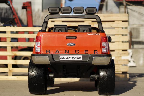 Masinuta electrica Ford Ranger 4x4 cu ROTI MOI 4x45W #Portocaliu 6