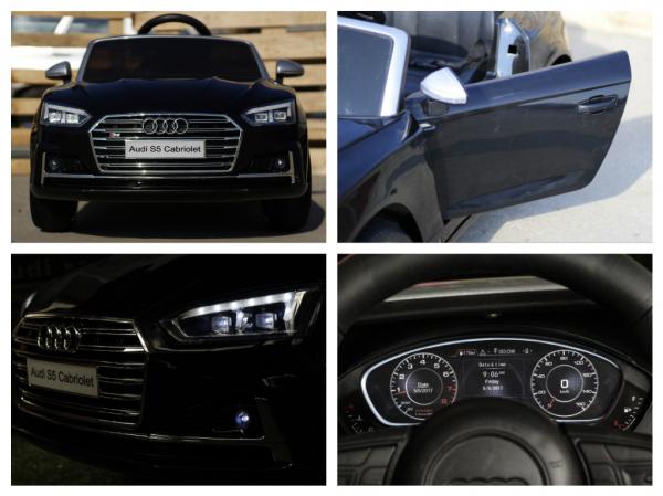 Masinuta electrica Audi S5 Cabriolet 2x35W CU ROTI MOI 12V #Negru 5