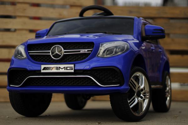 Masinuta electrica pentru copii Mercedes GLE 63S, albastra [2]