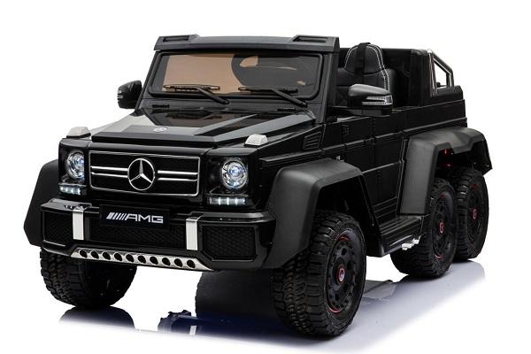 Masinuta electrica Mercedes G63 6x6 270W Premium #Negru 0