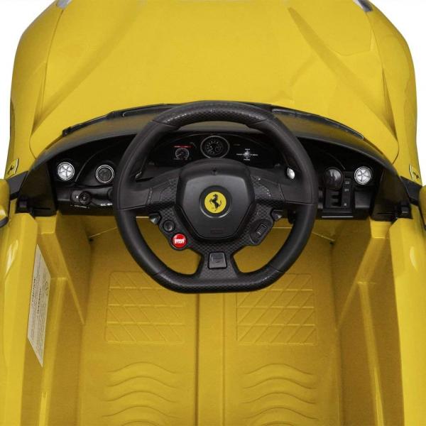 Masinuta electrica Ferrari F12 galben, 25W, pentru copii 8