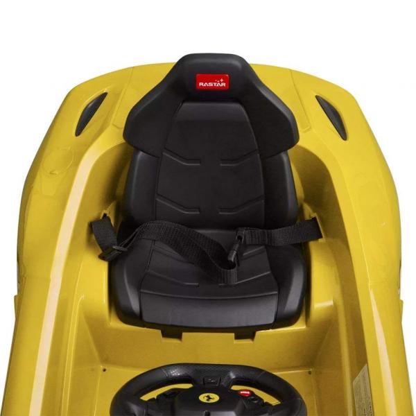 Masinuta electrica Ferrari F12 galben, 25W, pentru copii 5
