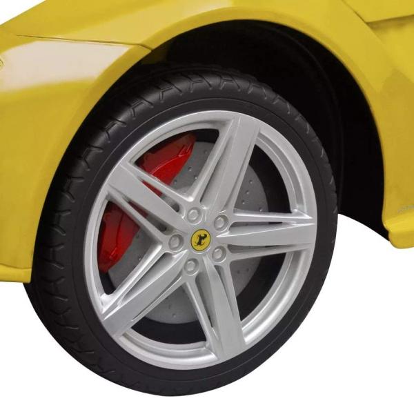 Masinuta electrica Ferrari F12 galben, 25W, pentru copii 6
