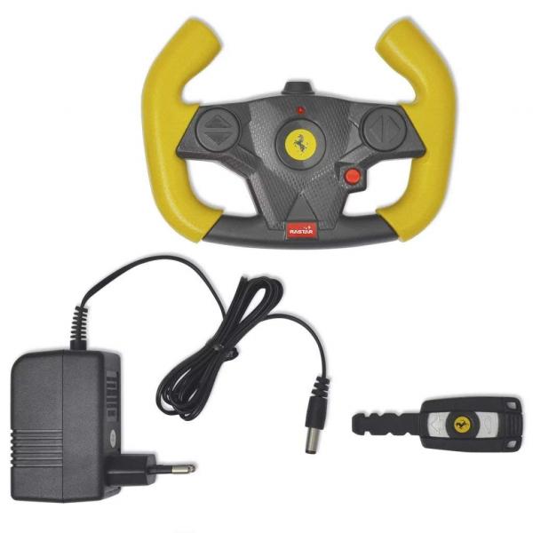 Masinuta electrica Ferrari F12 galben, 25W, pentru copii 7