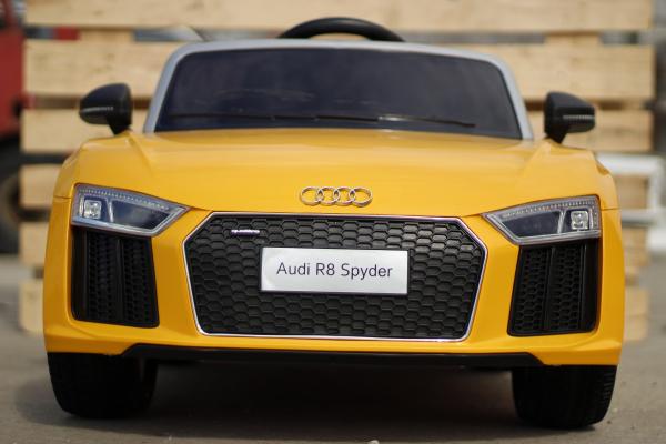 Audi R8 Spyder electric galben, copii 2-6 ani 2