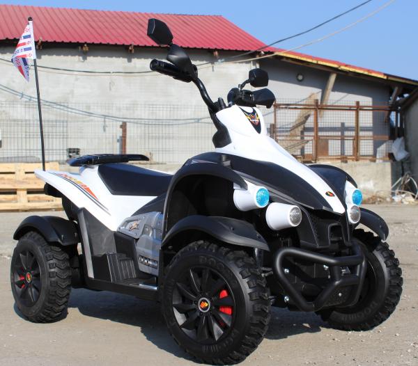ATV Electrica pentru copii Dooma EVA - Quad 2x 45W 12V #Alb 1