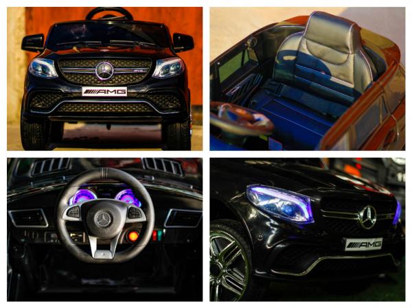 Masinuta electrica Mercedes GLE63S 2x22W 12V PREMIUM #Negru 6