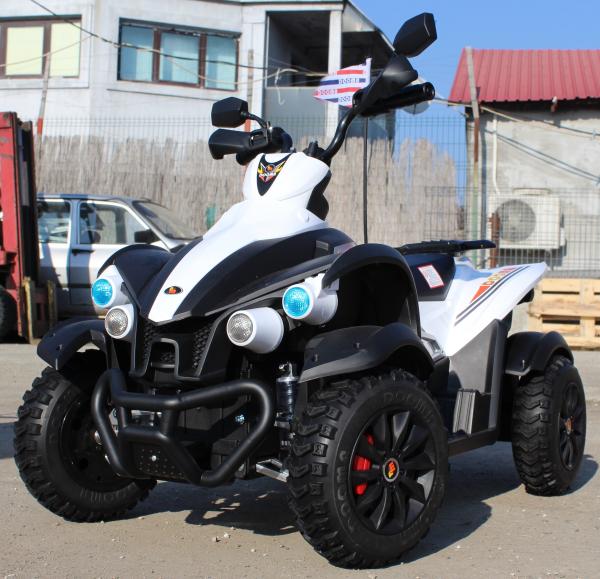 ATV Electrica pentru copii Dooma EVA - Quad 2x 45W 12V #Alb 2