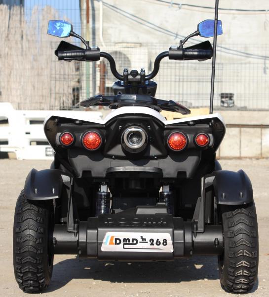 ATV Electrica pentru copii Dooma EVA - Quad 2x 45W 12V #Alb 3