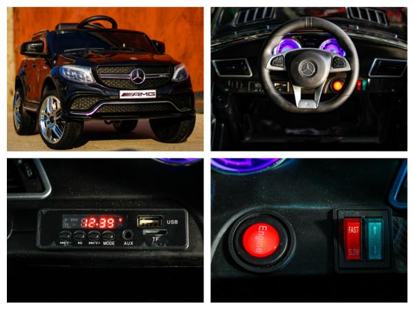 Masinuta electrica Mercedes GLE63S 2x22W 12V PREMIUM #Negru 8