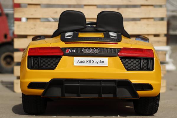 Audi R8 Spyder electric galben, copii 2-6 ani 4
