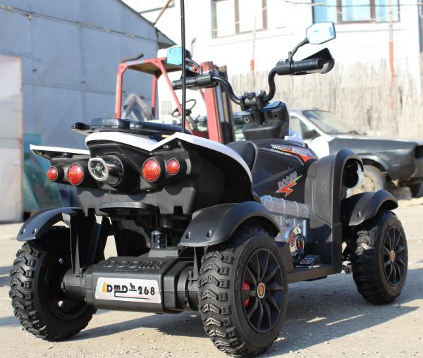 ATV Electrica pentru copii Dooma EVA - Quad 2x 45W 12V #Alb 4