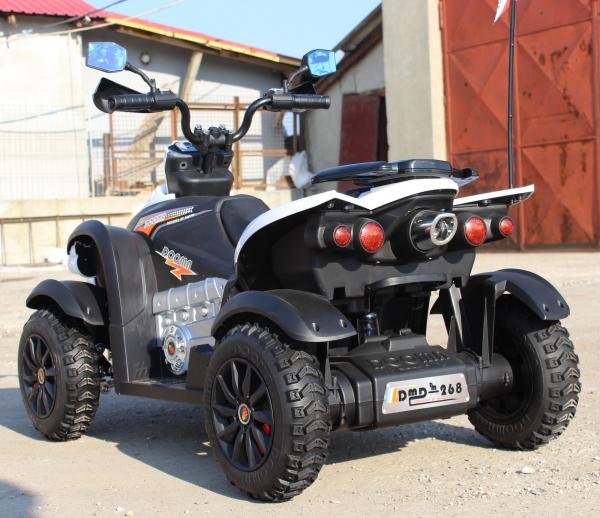 ATV Electrica pentru copii Dooma EVA - Quad 2x 45W 12V #Alb 5