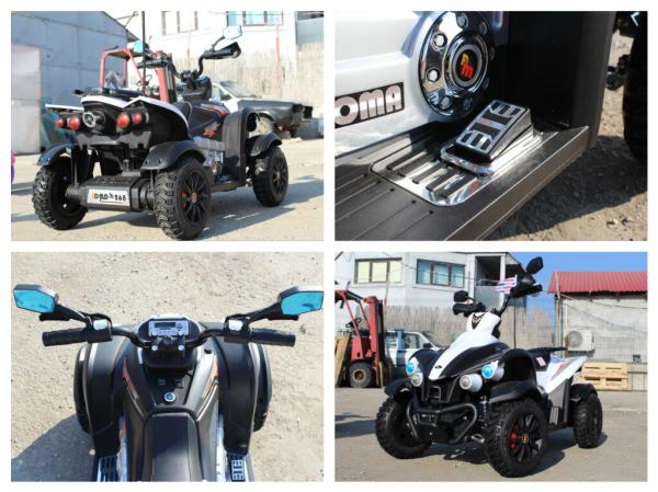 ATV Electrica pentru copii Dooma EVA - Quad 2x 45W 12V #Alb 7